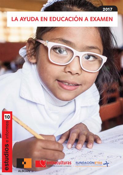 Portada del informe La Ayuda en Educación a Examen 2017